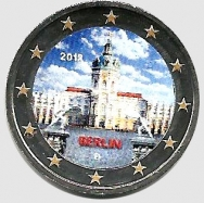 2 euro colorato Germania 2018 in capsula - Castello di Charlottenburg