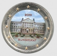 2 euro colorato Germania 2019 in capsula - Bundesrat