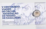 Confezione Proof in Folder - 2 euro Portogallo 2019 - Ferdinando Magellano