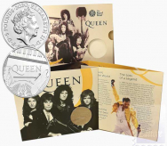 Confezione Ufficiale  Royal Mint 2020 - 5 £  Music Legends  I Queen
