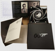 1 Sterlina  2020 in scatola ufficiale e certificato Royal Mint - 1/2 Oncia Argento 999 Proof (15,71 g) -  JAMES BOND  007