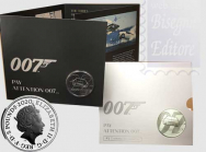 Confezione Ufficiale Royal Mint 2020 - 5 £ Pay Attention 007 -