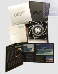 1 Sterlina  2020 in scatola ufficiale e certificato Royal Mint - 1/2 Oncia Argento 999 Proof (15,71 g) -  JAMES BOND  007 - PAY ATTENTION