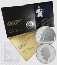 Confezione Ufficiale Royal Mint 2020 - 5 £ 007 Shaken Not Stirred -