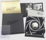 1 Sterlina  2020 in scatola ufficiale e certificato Royal Mint - 1/2 Oncia Argento 999 Proof (15,71 g) -  JAMES BOND  007 -  SHAKEN NOT STIRRED -