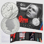 Confezione Ufficiale  Royal Mint 2020 - 5 £  Music Legends David Bowie