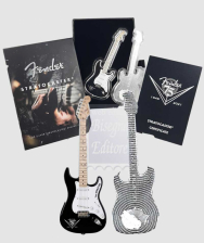 2 dollari 2021  In Scatola Ufficiale e Certificato Salomon Islands - Music Legend : Fender Statocaster -  1 Oncia Argento 999,9 Proof (31,10 g) COLORATA !